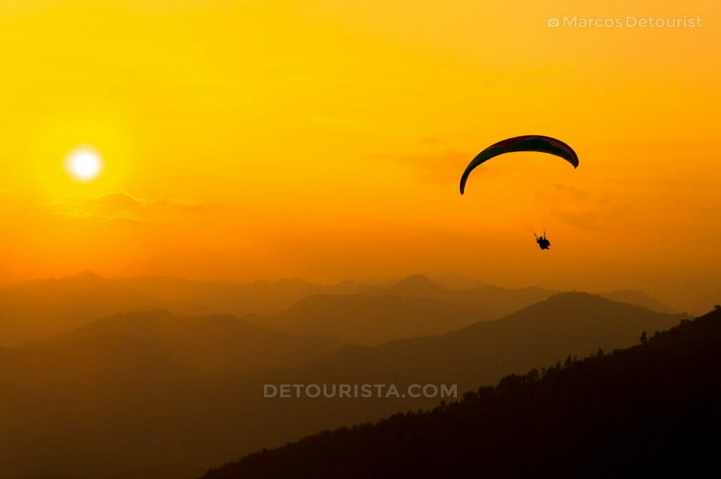 Paragliding at Sunset in Bandipur