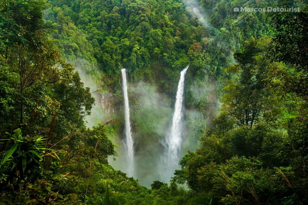 Tat Fane Waterfall in Bolaven Plateau, Champasak, Laos
