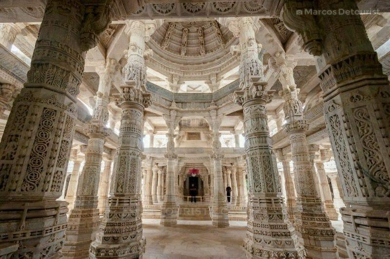 Ranakpur Jain Marble Temple in Ranakpur, India
