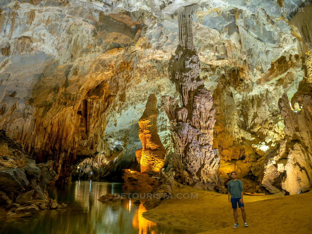 Subterranean River and Cave Formations in Phong Nha, Quang Binh, Vietnam