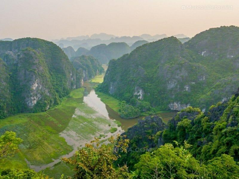Mua Caves Viewpoint in Ninh Binh, Vietnam