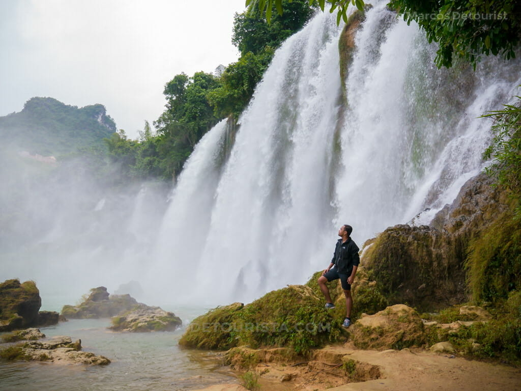 Lower Cascade of the Ban Gioc-Detian Waterfall in Cao Bang, Vietnam