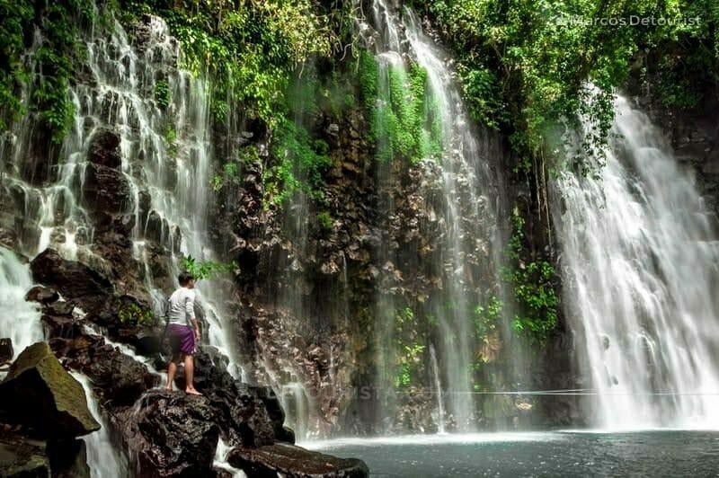 Close view of the main cascade of Tinago Falls in Iligan City, Lanao del Norte, Philippines