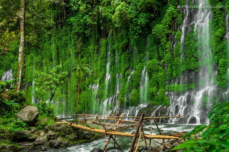 Asik-asik Falls sprawling view
