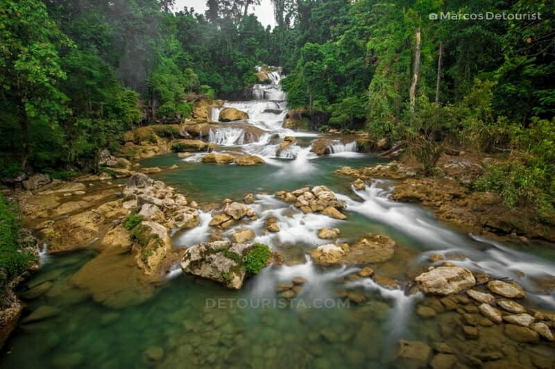 Lower cascades of Aliwagwag Falls in Cateel, Davao Oriental, Philippines