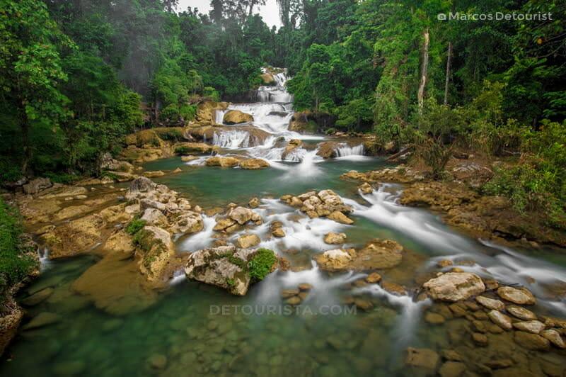 Aliwagwag Falls lower cascades