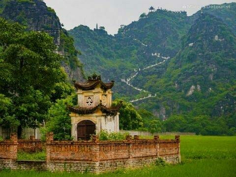 A small shrine found just outside the entrance gate of Mua Caves Eco Lodge, in Ninh Binh, Vietnam, on September 2015