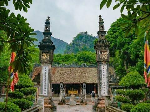 Dinh Tien Hoang Temple at Hua Lu Ancient Citadel, in Hua Lu Ancient Citadel, Ninh Binh, Vietnam, on September 2015