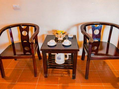 Coffee and tea maker at Mua Caves Eco Lodge, in Ninh Binh, Vietnam, on September 2015