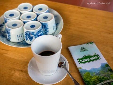 Welcome tea, at Mua Caves Eco Lodge, in Ninh Binh, Vietnam, on September 2015