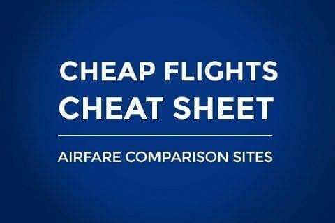 Flight Cheat Sheet: All Airfare Comparison Sites