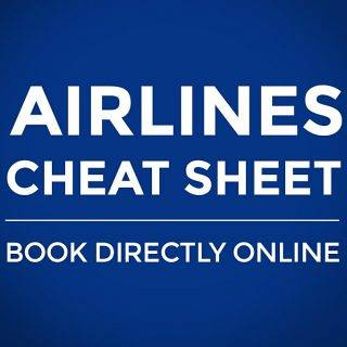 Flights Cheat Sheet: All Major Airlines & Official Online Booking Sites