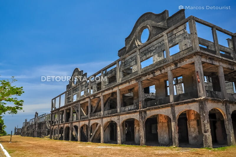 Word War II Barracks Ruins in Corregidor