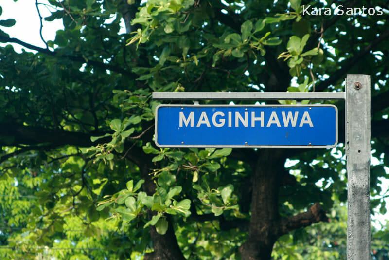 Maginhawa Street in Quezon City, Metro Manila, Philippines