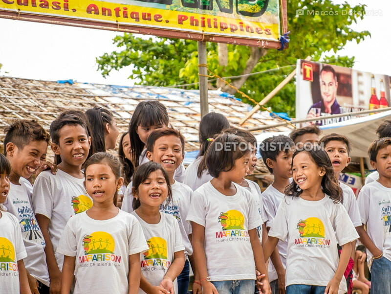 Mararison Children's Choir in Mararison Island, Culasi, Antique, Philippines
