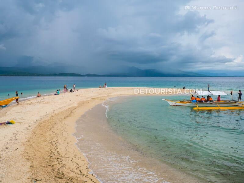 Mararison Island Sandbar in Culasi, Antique, Philippines