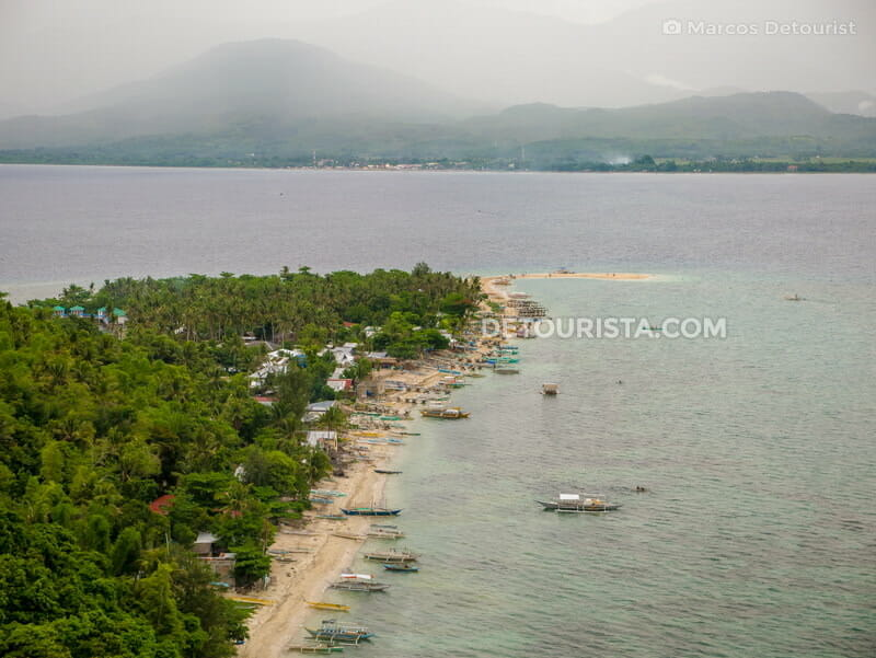 Overlooking Mararison Island from the view deck, in Culasi, Antique, Philippines