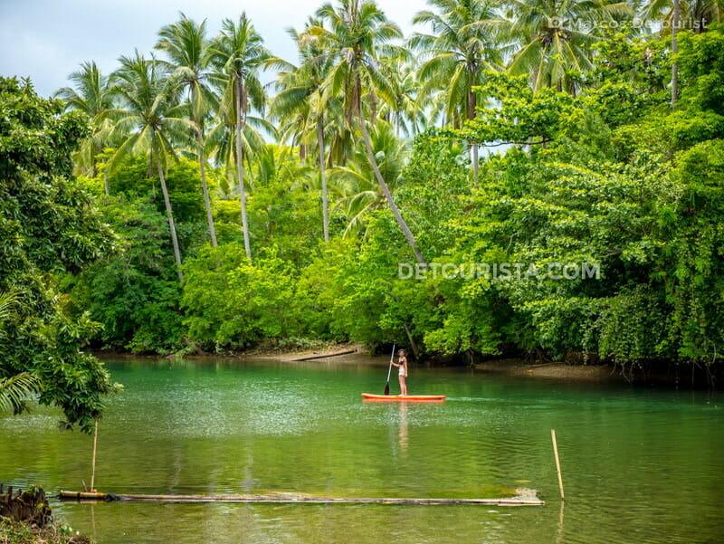 Paddle Boarding at Naranjo Water Park, Pandan, Antique, Philippines