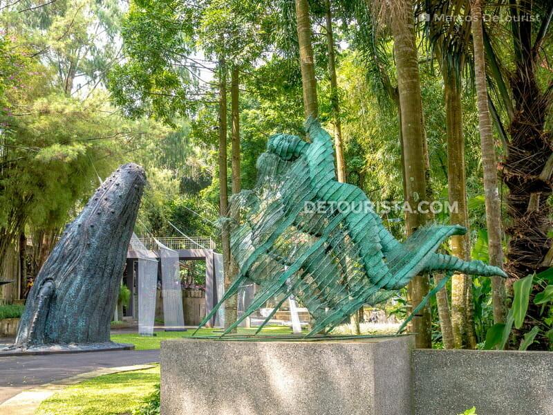 Outdoor art installation at Nuart Sculpture Park, in Bandung, Indonesia