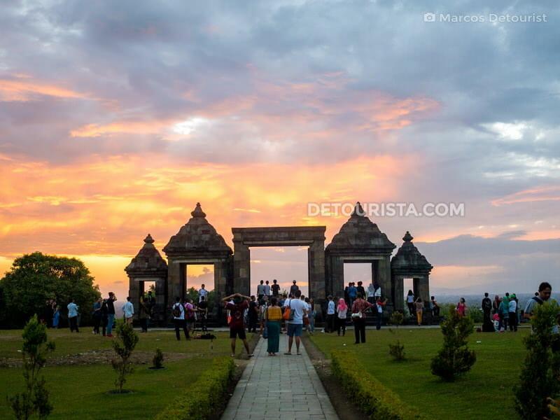 Sunset at Ratu Boko in Yogyakarta, Indonesia