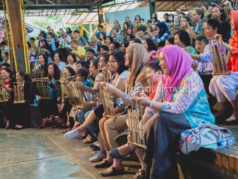 Saung Angklung Udjo in Bandung, Indonesia