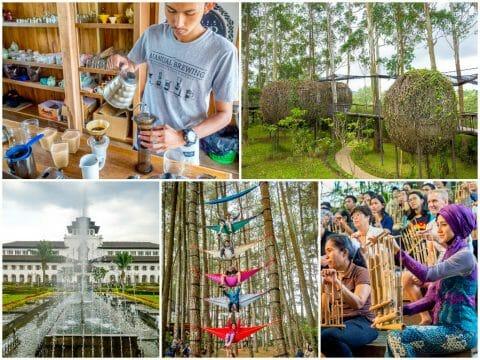 Bandung — Armor Kopi, Dusun Bambu, Angklung Udjo, Central Bandung