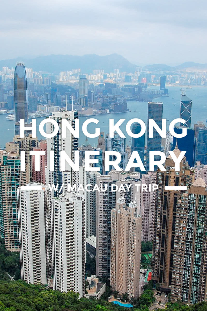 Hong Kong Itinerary with Macau, Disneyland & Ocean Park Tour for First-Timers