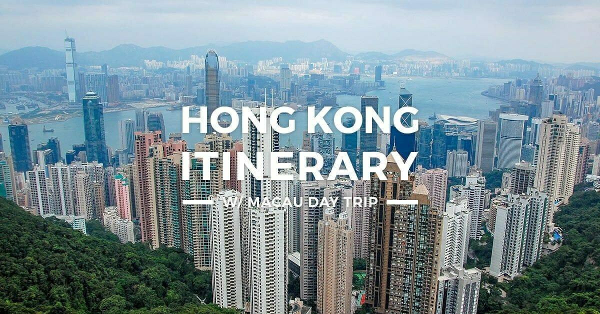 Hong Kong Itinerary – 3 Days HK Macau Tour