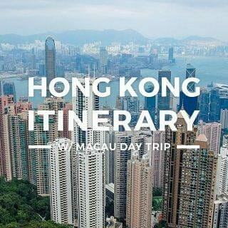 Hong Kong Itinerary – 3 Days HK-Macau Trip