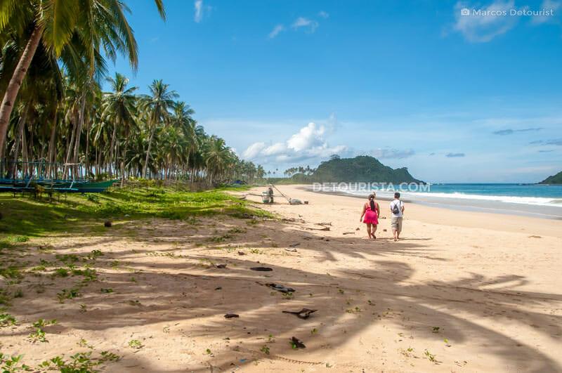 Calitang Beach, in El Nido, Palawan Philippines