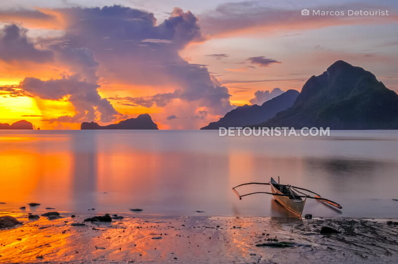 El Nido islands sunset