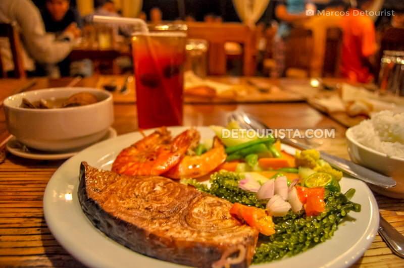 Puerto Princesa seafood dinner