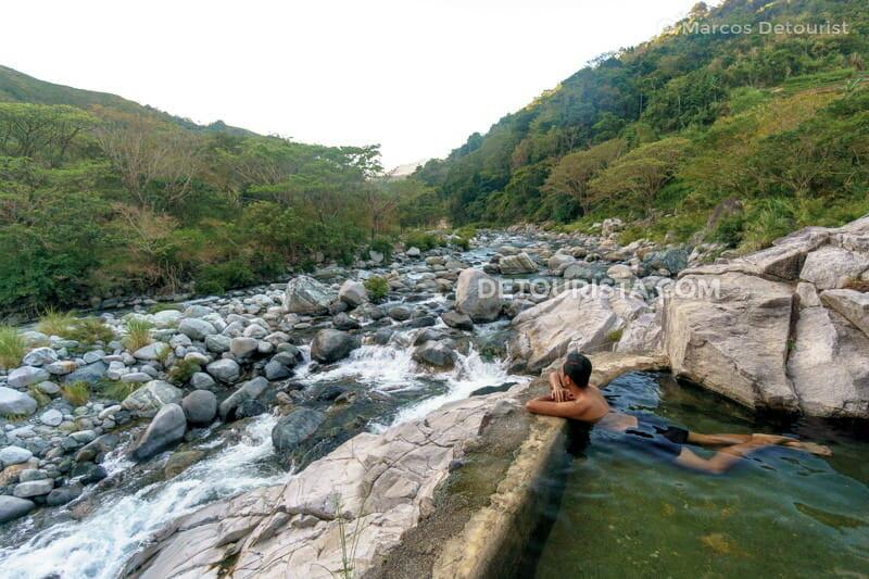 Marcos at Kili hot spring