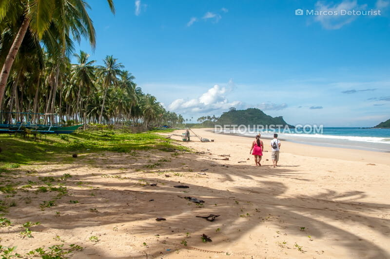 Calitang Beach, at Nacpan-Calitang Twin Beaches, in El Nido, Palawan, Philippines