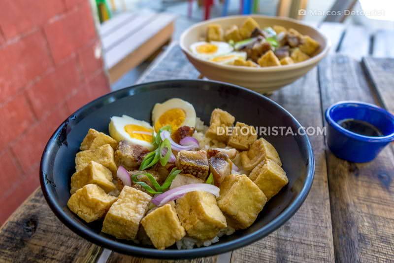 Tofu rice meal at Tagpuan
