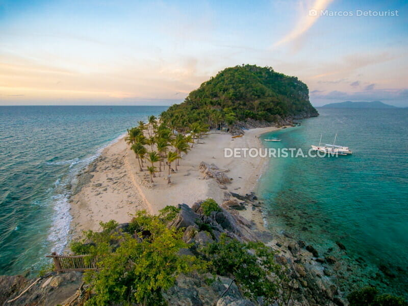 Sunrise at Cabugao Gamay Island in Gigantes Islands, Carles, Iloilo, Philippines