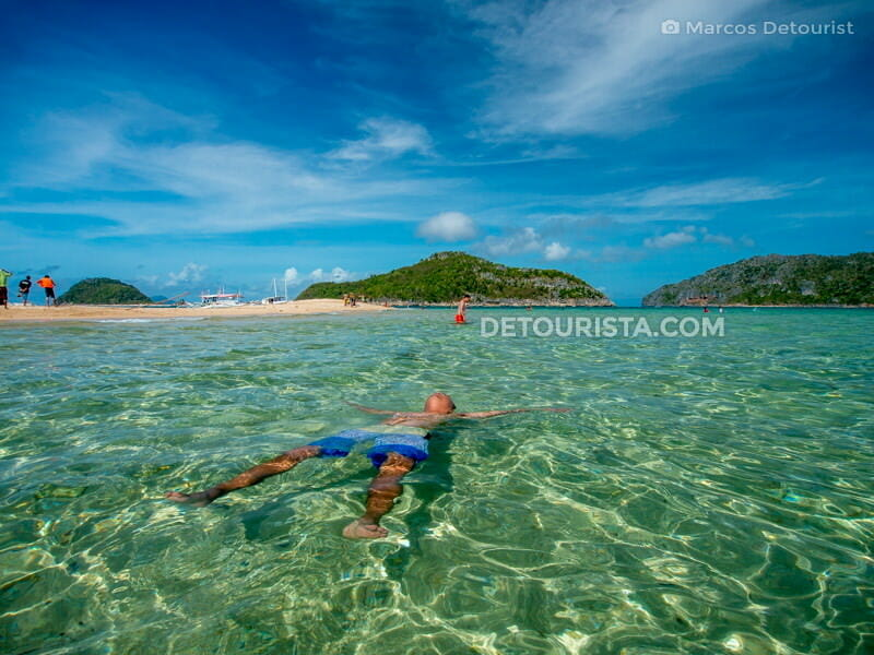 Clear waters at Bantique Island, Carles, Iloilo, Philippines