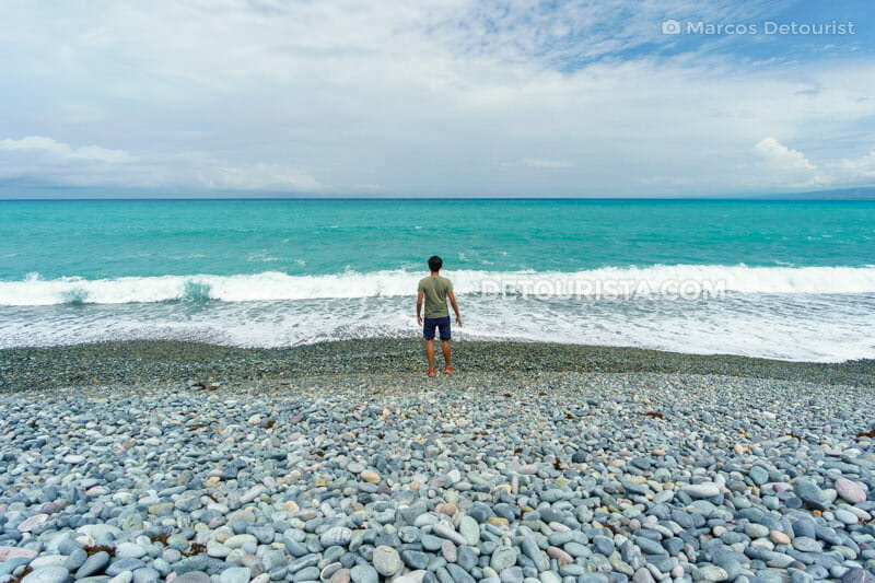 Pebble beach in La Union