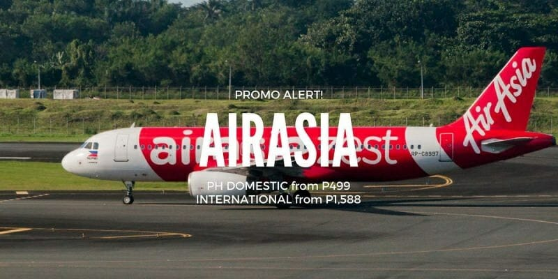AirAsia PH Seat Sale from P499 ALL-IN – Flights to/from Manila, Cebu, Kalibo, Clark, Davao