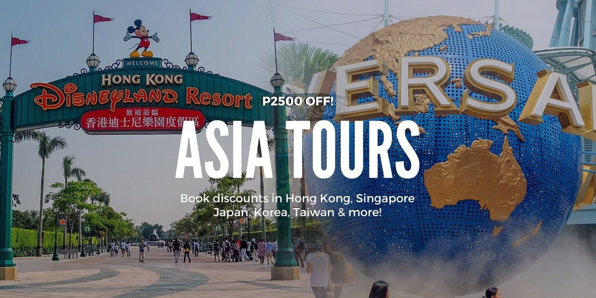 P2,500 OFF Asia Tours & Tickets – HK, SG, Japan, Korea, Thailand, Taiwan & more