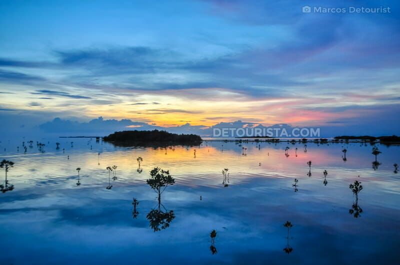 Dusk at Olango Island Bird Sanctuary in Olango Island, Lapu-Lapu City, Philippines