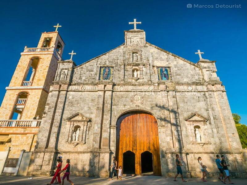 Bantayan Church facade, in Bantayan Island, Cebu, Philippines