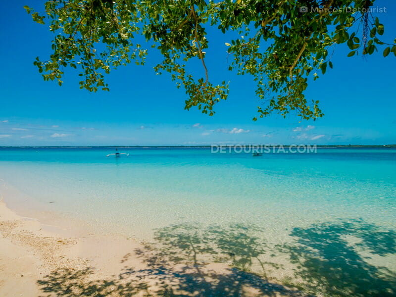 Aquamarine waters at Paradise Island in Bantayan, Cebu, Philippines