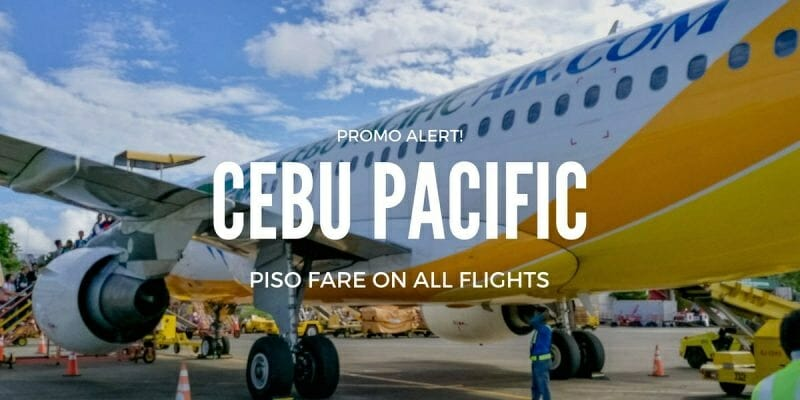 Cebu Pacific 1 PISO FARE PROMO on all destinations for 2017-2018!