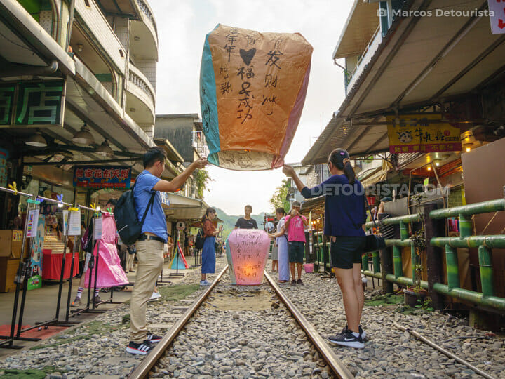 Shifen Old Street near Taipei, Taiwan