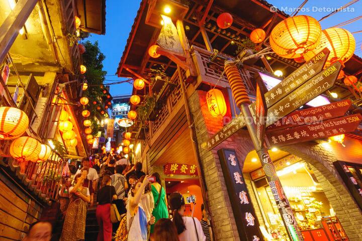 Jiufen Old Street near Taipei, Taiwan