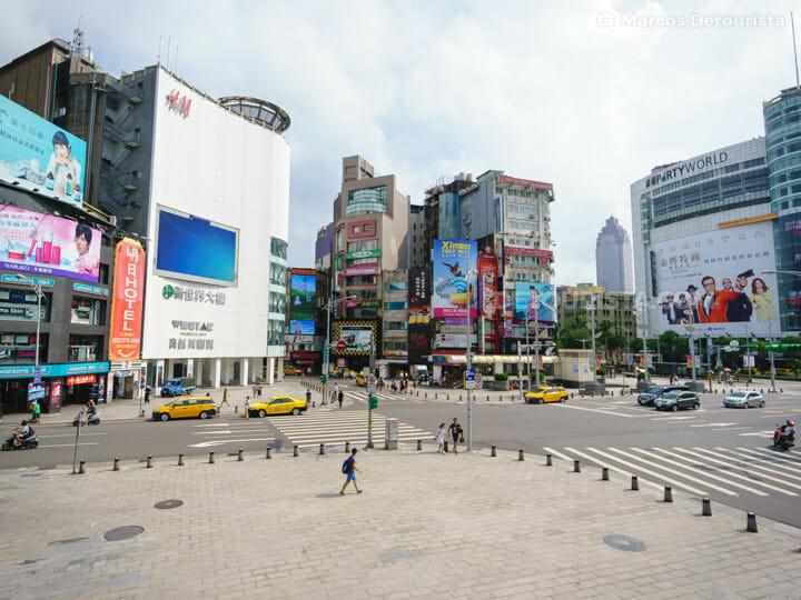 Ximending district in  Taipei, Taiwan