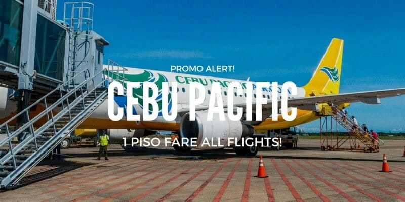 Cebu Pacific 1 PISO FARE on ALL Flights
