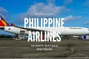 PAL Ultimate Seat Sale – International Flights for 2018 Travel