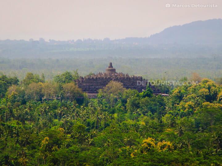 Borobudur Temple view from Amanjiwo Resort, near Yogyakarta, Jav